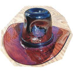 John Wayne style glass hat