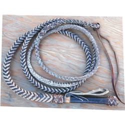 old swivel handle braided bull whip