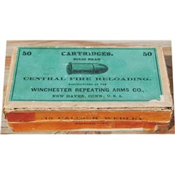 original box of  Winchester .45 Webley center fire bullets