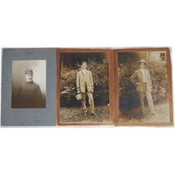 3 early cabinet cards; 2 are brothers in Houston