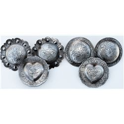 "3 pairs of  of 2""  Marsh  conchos"