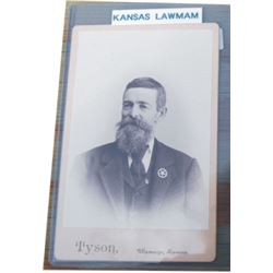 old Kansas lawman cabinet card