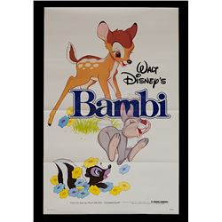 Bambi - Original Re-release 1982 One-Sheet Poster