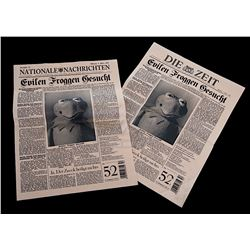 Muppets Most Wanted - Prop Newspapers Featuring Kermit The Frog