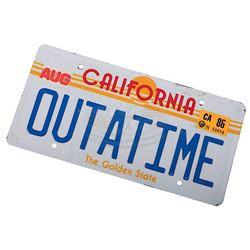 "Back To The Future - ""OUTATIME"" License Plate"