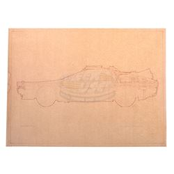 Back To The Future - Original DeLorean Time Machine Blueprint