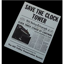"Back To The Future Ride - ""Save The Clock Tower"" Flyer"