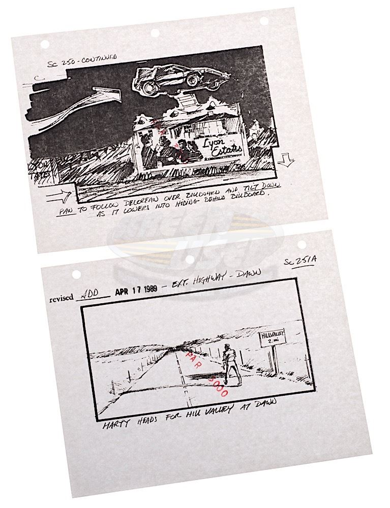 Back To The Future   Original Production Storyboard Prints