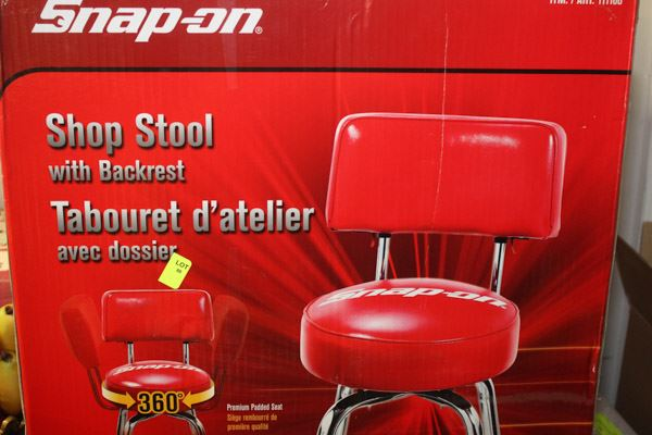 Snap On 360 Degree Shop Stool With Backrest
