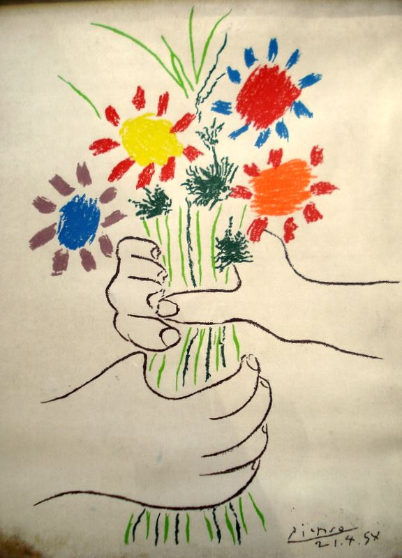 Picasso Drawing Flowers