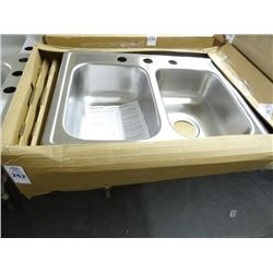 2 Dayton S/S Double Bowl Sink - 2 Times the Money