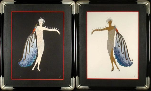 Erte Diva Suite I Ii Signed Framed Prints
