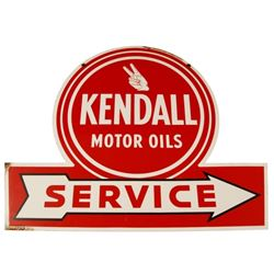 Kendall Motor Oil Porcelain Service Sign