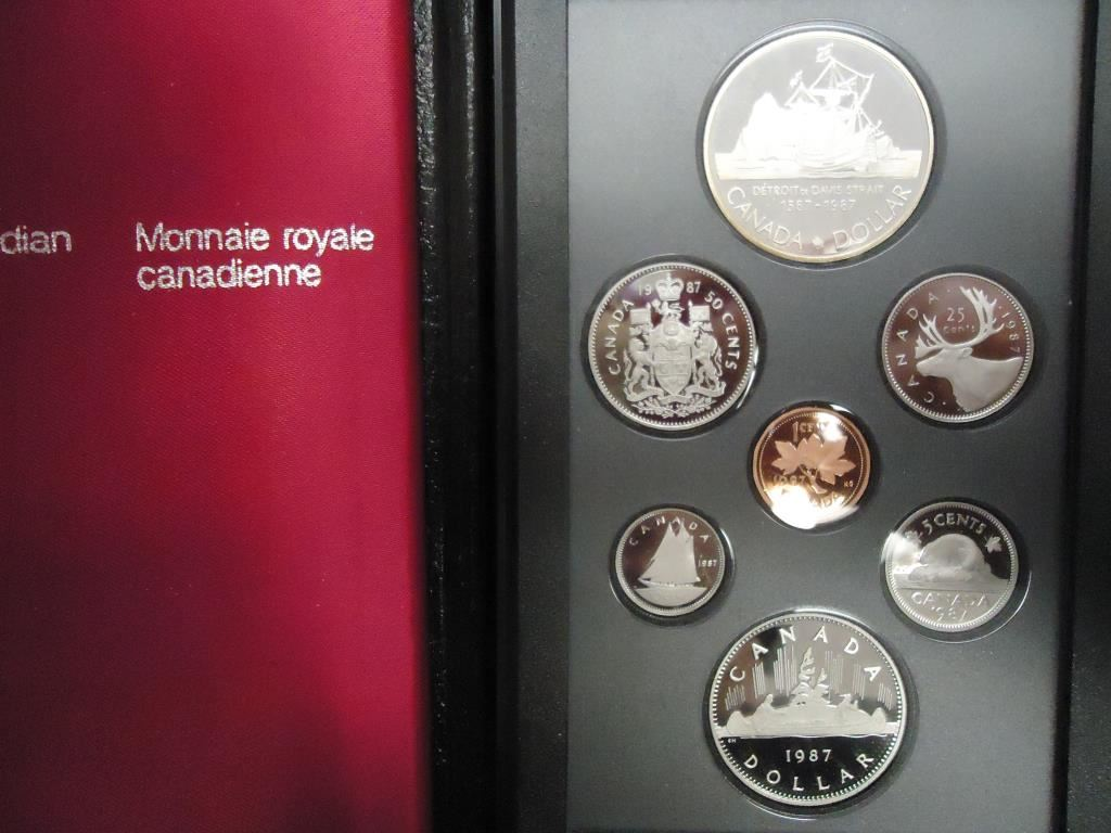 Online Auctions Canada >> 1987 CANADA DOUBLE DOLLAR PROOF SET ORIGINAL ROYAL CANADIAN MINT PACKAGING