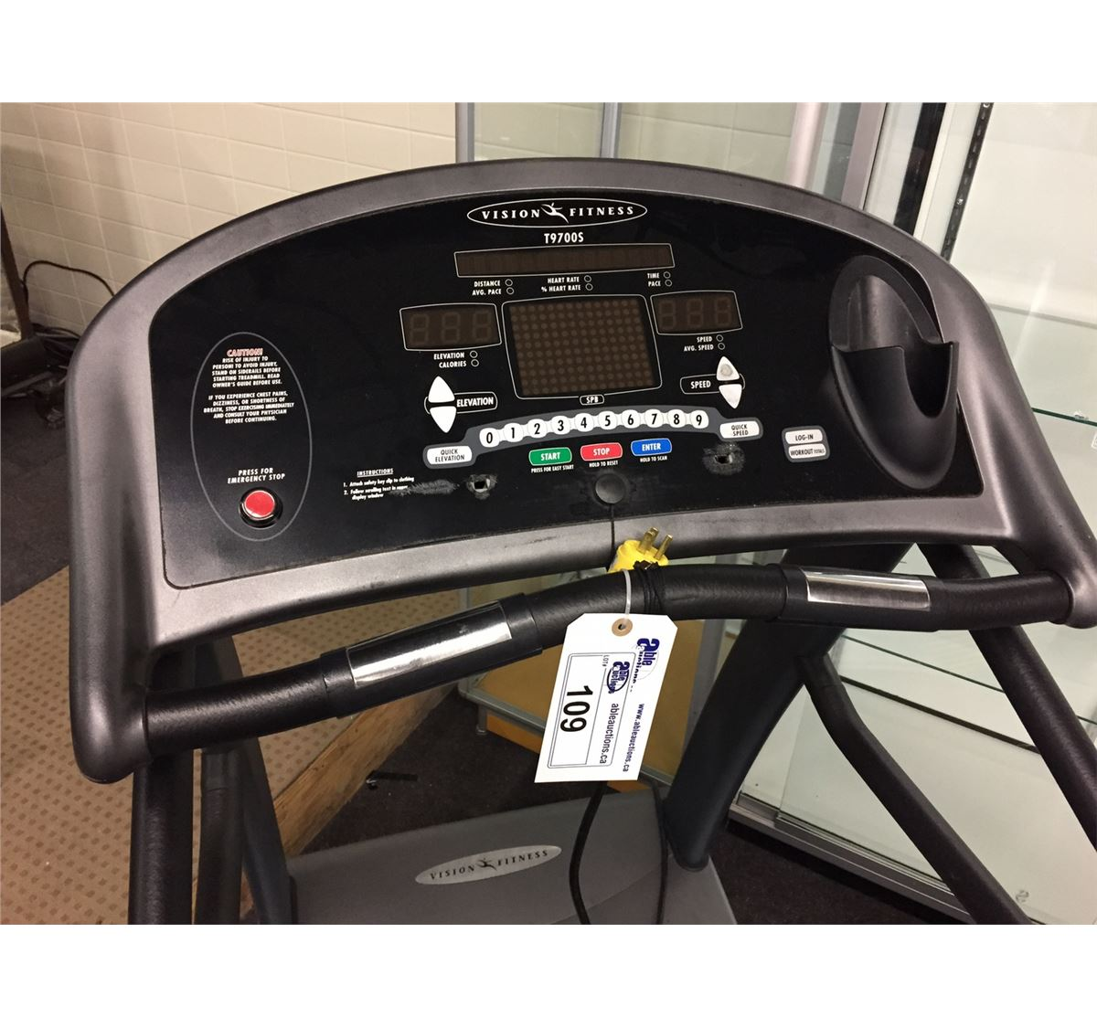 Commercial Treadmill Used: VISION FITNESS T9700S COMMERCIAL TREADMILL