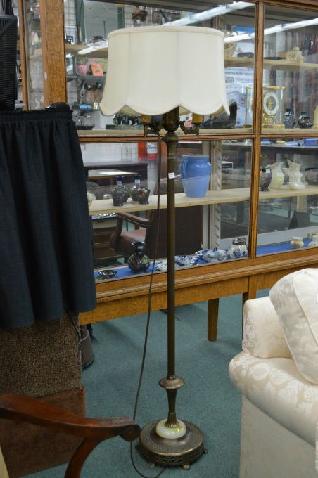 Antique floor torch style floor lamp with four candle style bulbs on image 1 antique floor torch style floor lamp with four candle style bulbs on a aloadofball Gallery