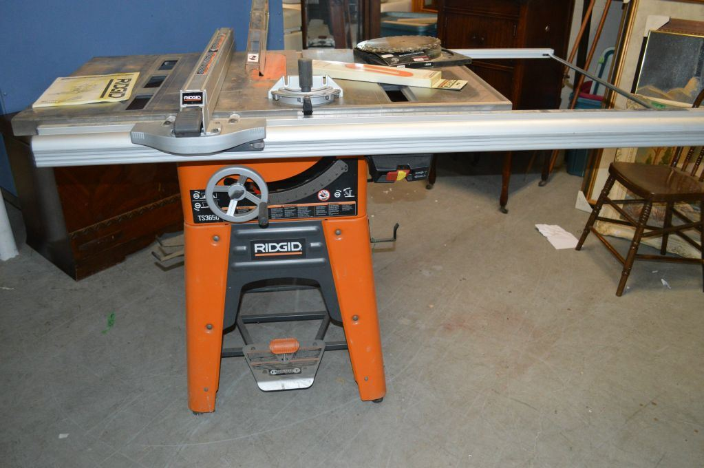 Ridged 10 cast iron table saw model ts 3650 and extra blades image 1 ridged 10 cast iron table saw model ts 3650 and extra greentooth Images