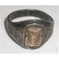 vintage high school class ring 10k gold top sterling