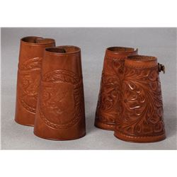 Two Pair of Unmarked Cuffs - Cowboy & Cowgirl
