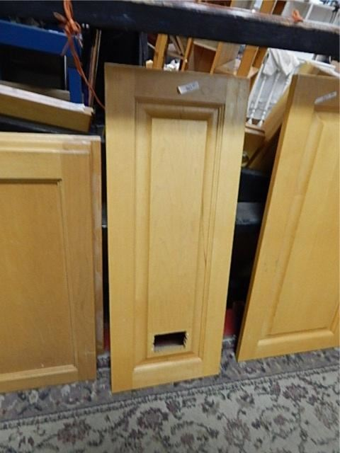 Solid Maple Cabinet Door Front Whole Cut In It