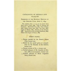 A Rare Grolier Club Catalogue of Medals