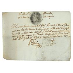 Original Documents of the Casa de Moneda de Lima