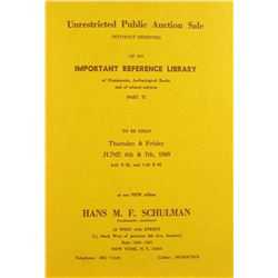 The 1968 Schulman Library Sale