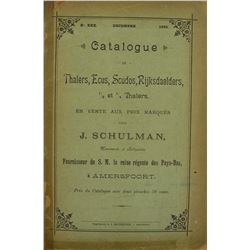 1895 Schulman Catalogue of Crown-Sized Coins