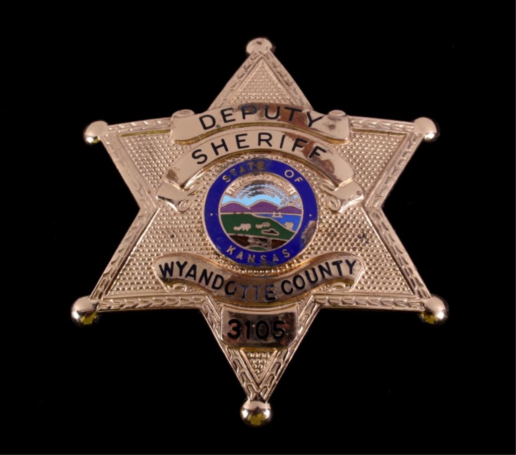 Deputy Sheriff Badge Wyandotte County Kansas