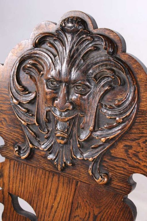 Man of the north wind carved chair th century