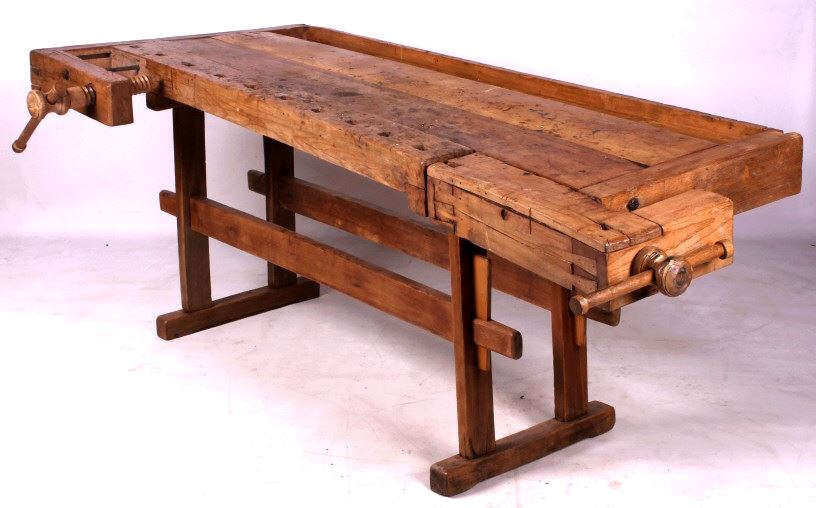 Antique Wooden Carpenter S Workbench