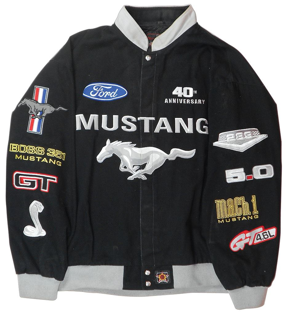 Image  Ford Mustang Th Anniversary Jacket Made By Jh Design Size Xl