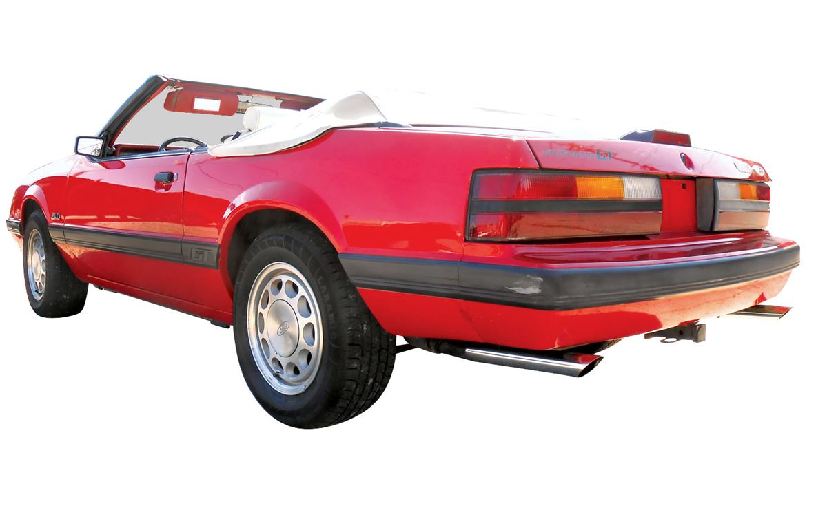 Automobile  1985 Ford Mustang 5 0 Gt Convertible  Red With