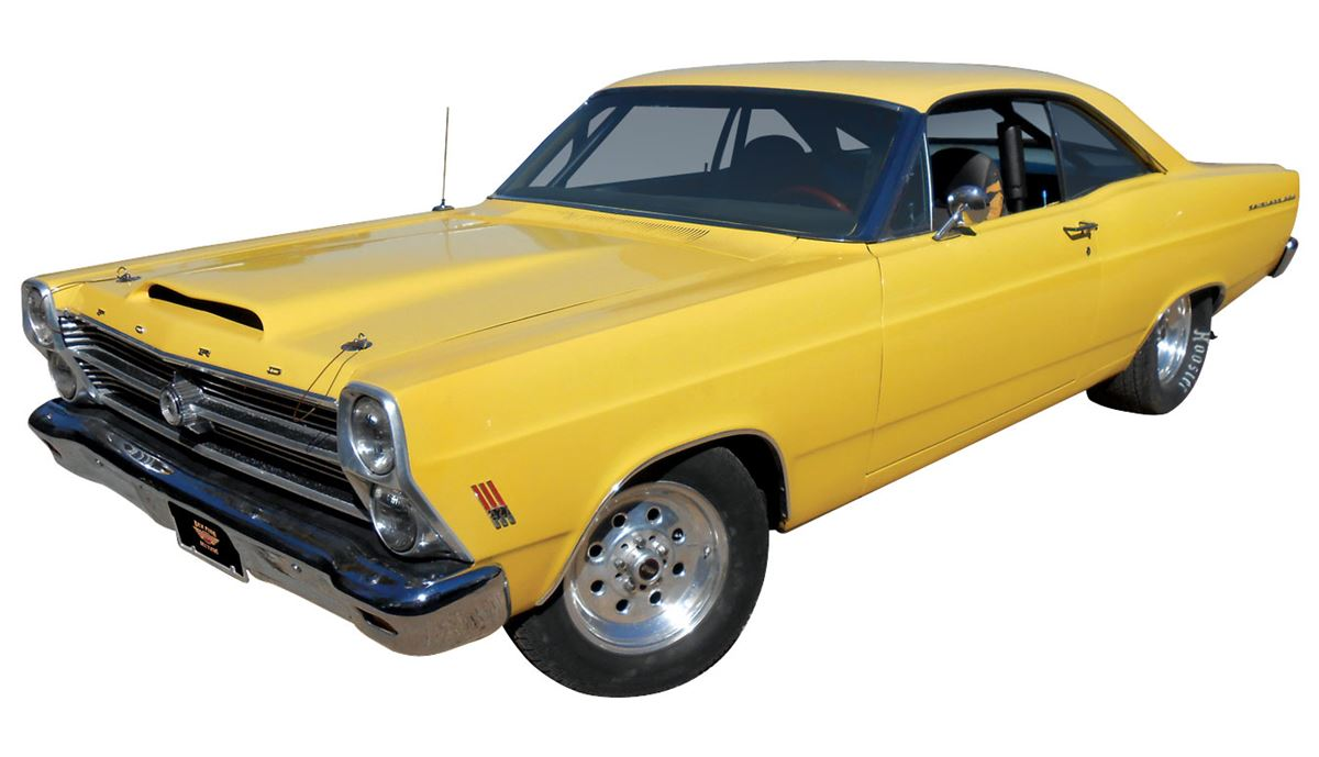 Automobile 1966 Ford Fairlane 500 Clone Yellow With Black Interior Fresh Built 428 Loading Zoom