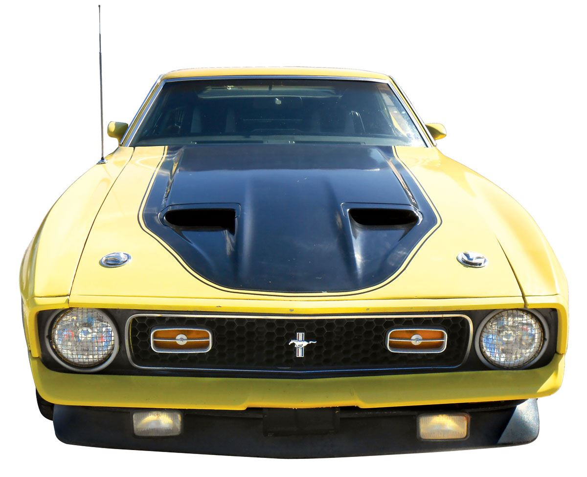 Automobile 1971 Ford Mustang Mach I Coupe Grabber Yellow With Black Image 5