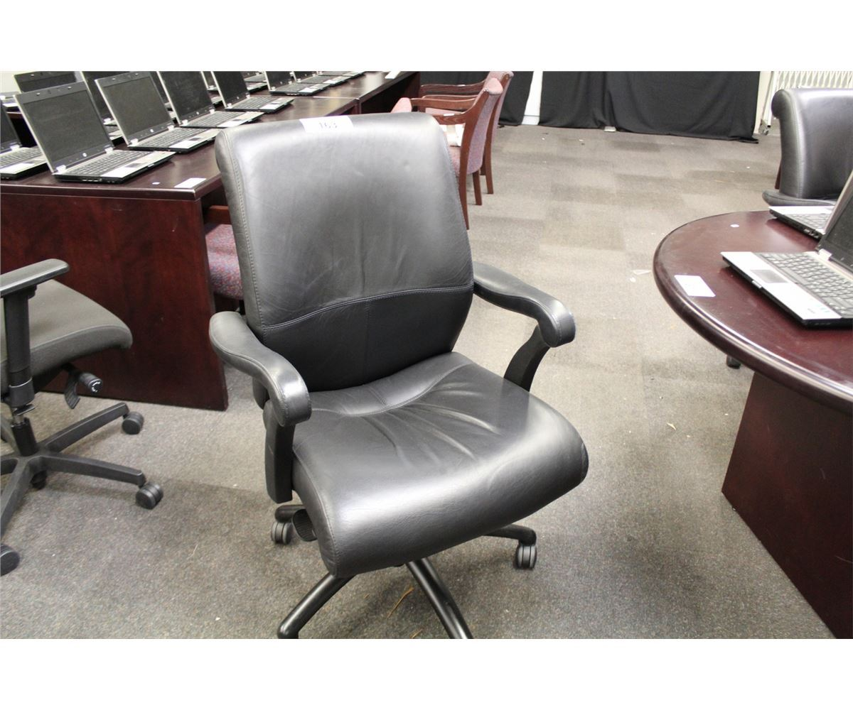 Keil Hauer Danforth Black Leather Midback Executive Chair