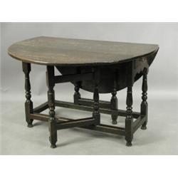 A late 17th early 18th century oval oak gateleg table with two drawers later alterations 11 - Gateleg table with drawers ...