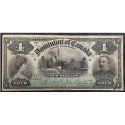 1900 Dominion of CanadaFour Dollars