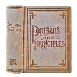 """1898 """"PORTRAITS AND PRINCIPALS OF GREAT MEN AND WOMEN"""" HARDCOVER BOOK"""