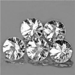LOT OF 1.86 CTS OF DIAMOND CUT NATURAL WHITE ZIRCON