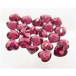 LOT OF 7.35 CTS OF PINK AFRICAN GARNETS - HEART SHAPED