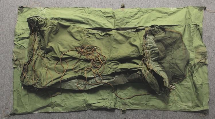 Vintage WWII Army Green 1 Man Pup Tent Screened Shelter. Loading zoom & Vintage WWII Army Green 1 Man Pup Tent Screened Shelter