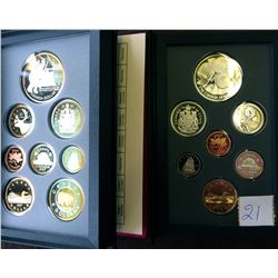 Proof Set 1996 & 1997 in case with COA. Lot of 2 sets.