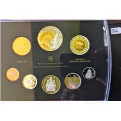 Proof Set 2008 400th Quebec City Gold Plated in box of issue with COA.