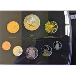 Proof Set 2009 First Flight Gold Plated in box of issue with COA.