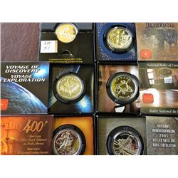 1 dollar 1999, 2000, 2001, 2002 (.925), 2003 & 2004 (99.99%) Bright Uncirculated in Packaging. Lot o