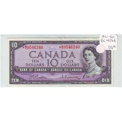 Bank of Canada; 10 dollars replacement note 1954, BC-40bA, serial *B/D0546340, AU50, light centre fo