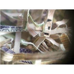 Bank of Canada; Bag full of shredded banknotes 56gr or apx 50 shredded notes, a fun item for collect