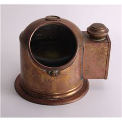 19th Century, brass binnacle with compass and lighting