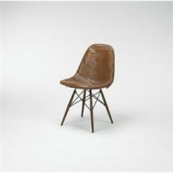 Charmant Charles Eames, Dowel Leg Chair, Herman Miller, USA, C.1950, Walnut, Wire,  Leather, 18.5.
